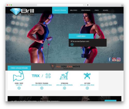 Theme WordPress Fit Coach - brillfitness.hu