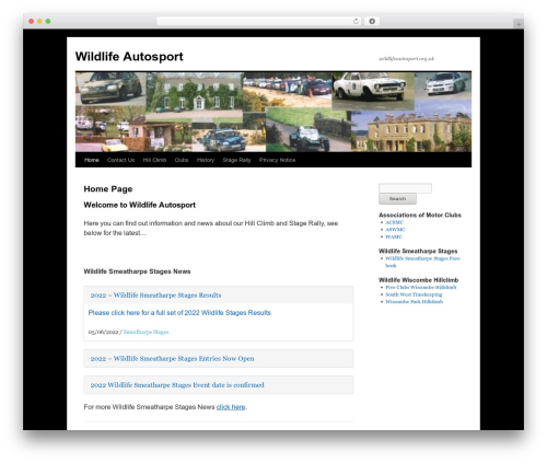 Twenty Ten free WP theme - wildlifeautosport.org.uk