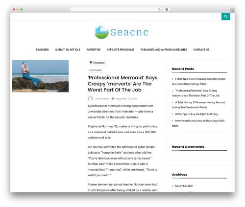 Vihaan Blog Lite theme WordPress - seacnc.org