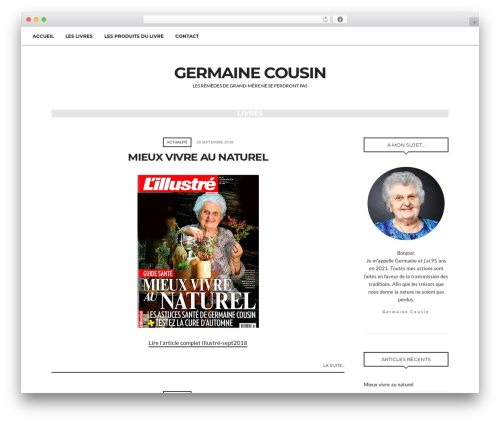 WordPress template paperbag - germainecousin.ch