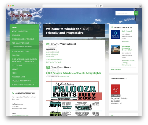 WordPress theme TownPress - wimbledonnd.com