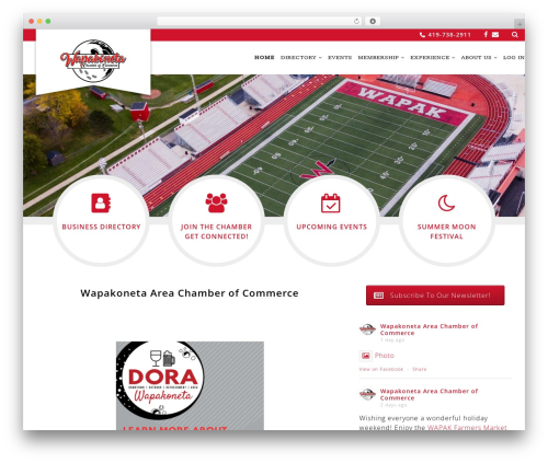 Chamber Beautiful theme WordPress - wapakoneta.com