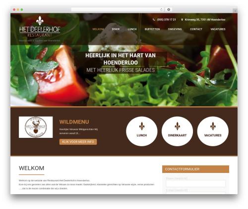 Coffee Pro premium WordPress theme - deelerhof.nl