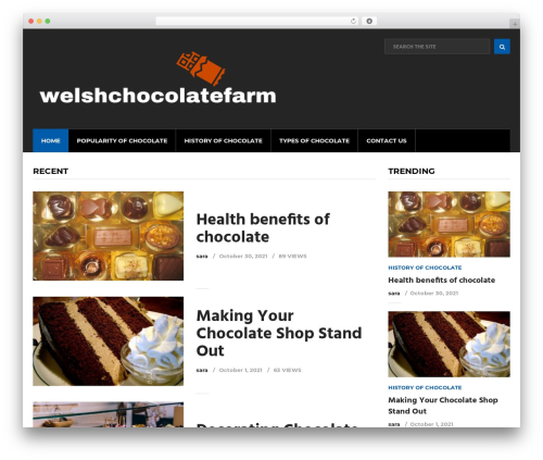 Cool by MyThemeShop WordPress shopping theme - welshchocolatefarm.com