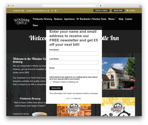 Divi best restaurant WordPress theme - windsorcastleinn.co.uk