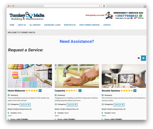 Responsive Business Theme WordPress website template - turnkeyservices.net