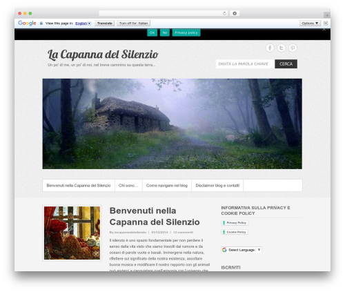 Simple Catch free WP theme - lacapannadelsilenzio.it