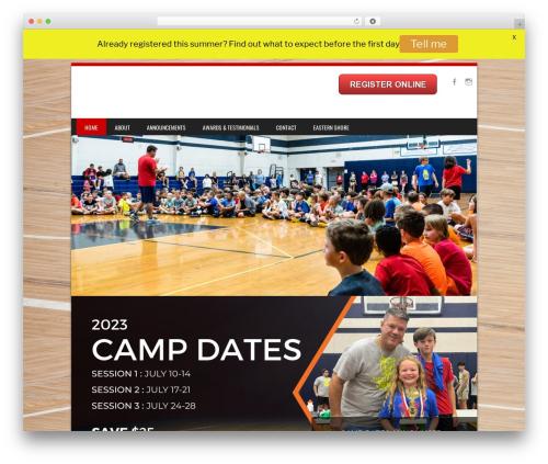 SportyPro top WordPress theme - webersbulldogbasketball.com