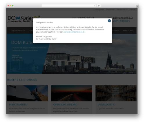Theme WordPress TheBuilt - domkurier.de