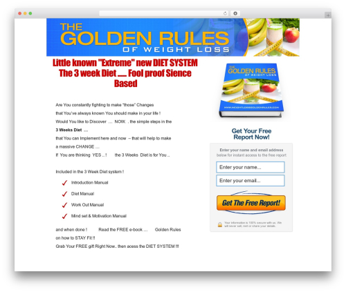 WP template OptimizePressLite - weightlossgoldenrules.com