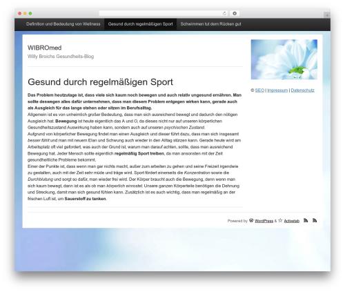 Activetab template WordPress free - wibromed.de