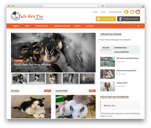 Best WordPress template HitMag - wirfuerstier.at