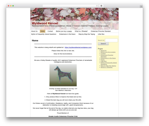 Best WordPress theme Autumn Leaves - wyldwoodkennel.com/wordpress1