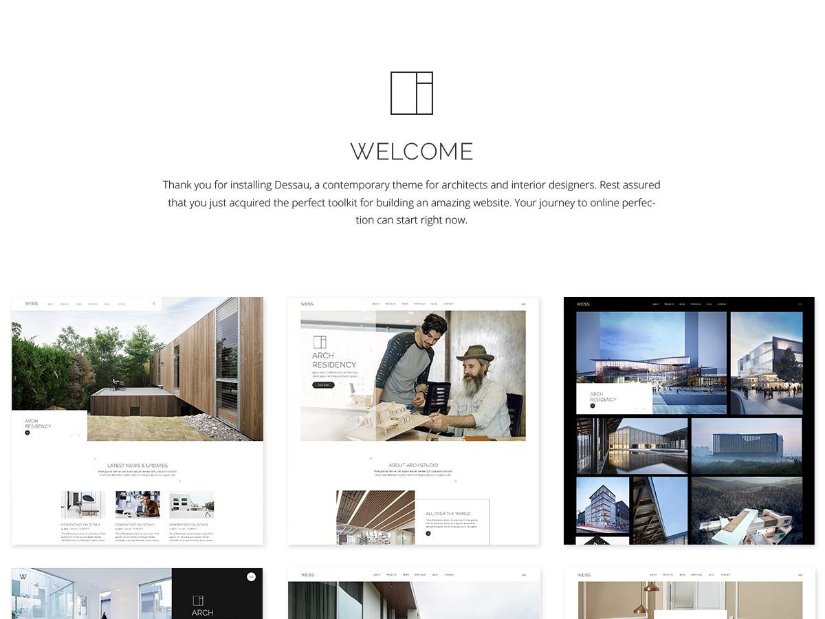 Dessau WordPress theme