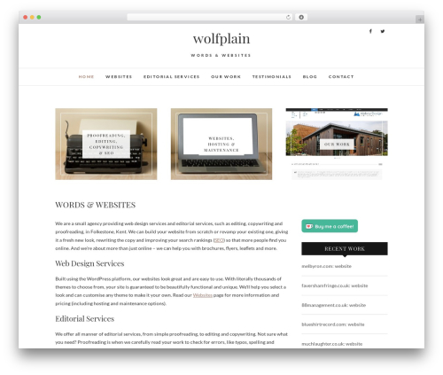 Edge WordPress theme - wolfplain.co.uk