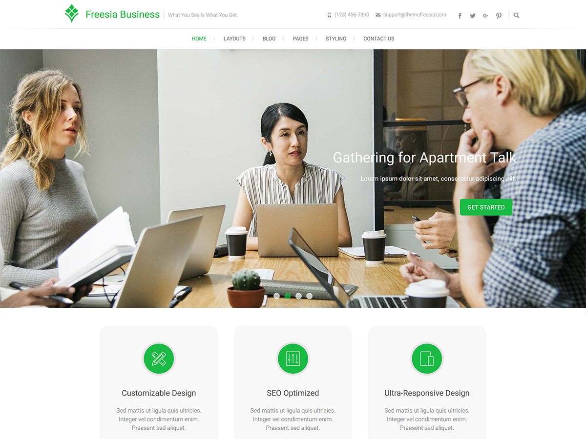 Freesia Business WordPress blog template