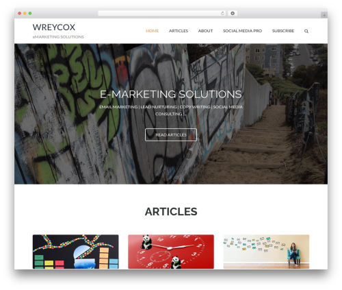 Pet Business business WordPress theme - wreycox.com
