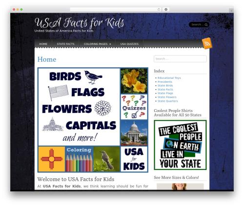 Snowblind template WordPress free - usa-facts-for-kids.com