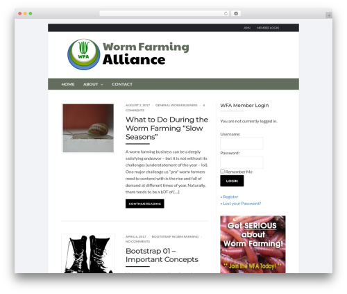 Socrates v5 best WordPress template - wormfarmingalliance.com