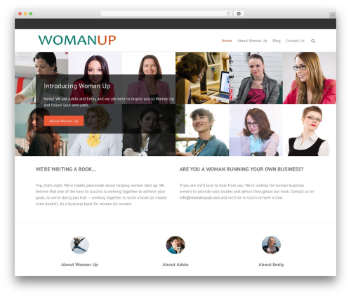 TH Business Pro Child WordPress theme design - womanupuk.com