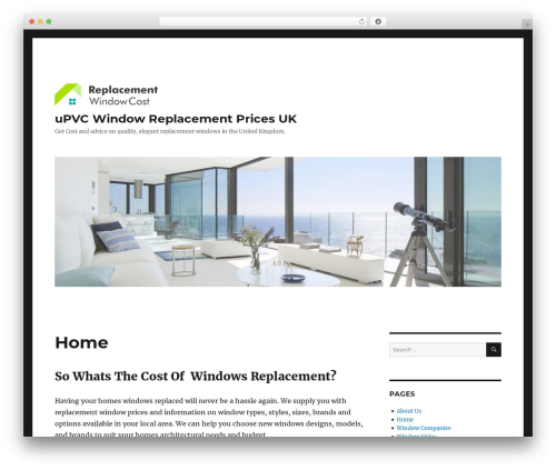 Twenty Sixteen WordPress theme free download - windowreplacementcost.co.uk