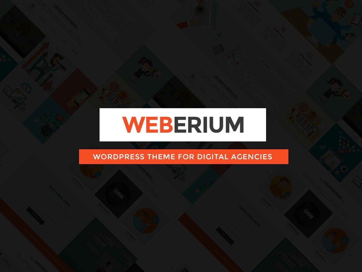 Weberium best WordPress template