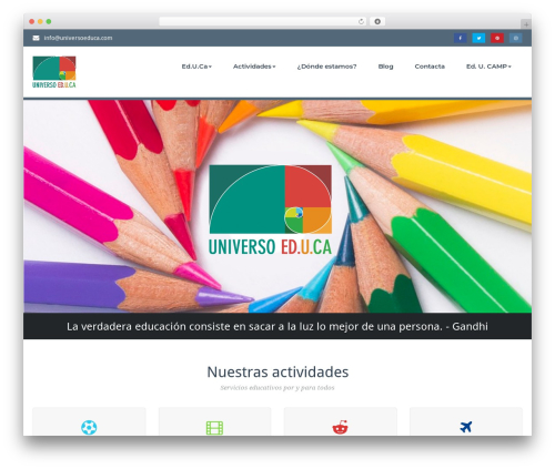 WordPress theme BusiProf Pro - universoeduca.com
