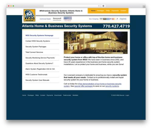 WordPress website template WSS - wsssecure.com