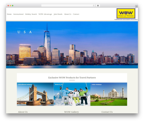 WP template Trvl - wowholidays.in
