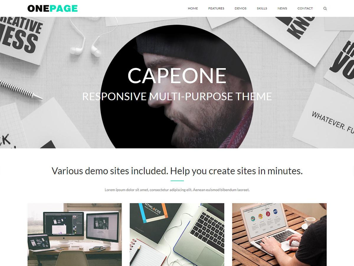CapeOne WordPress ecommerce theme