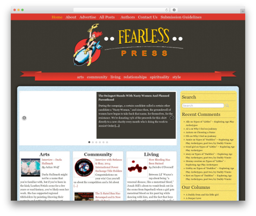 WordPress author-info-widget plugin - fearlesspress.com