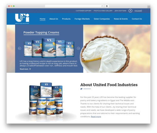 Template WordPress The7 - unitedfoodindustries.com