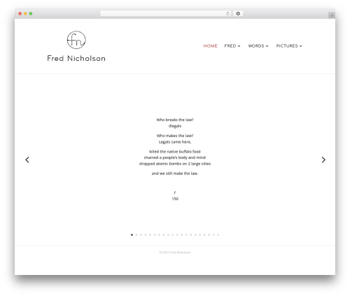 Theme WordPress Divi - frednicholson.com