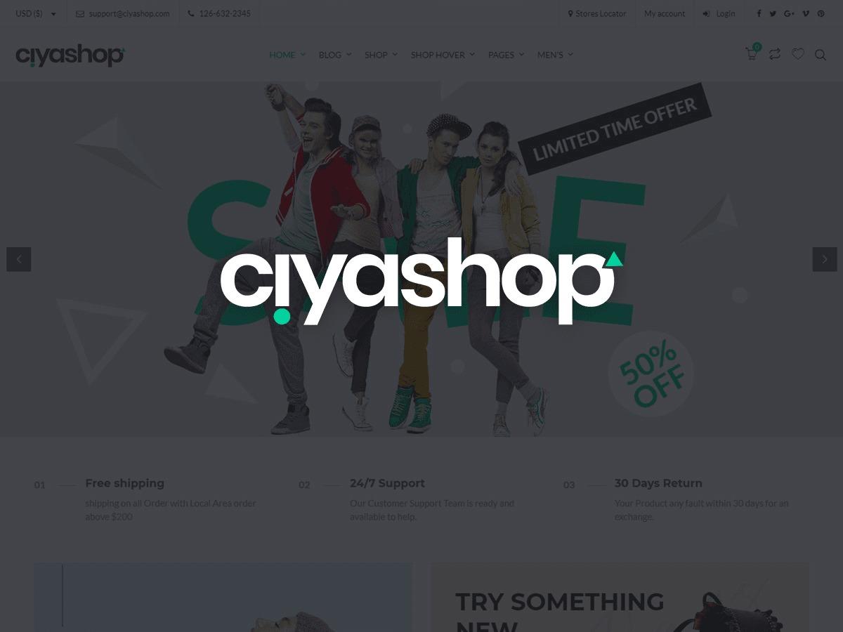 CiyaShop WordPress store theme