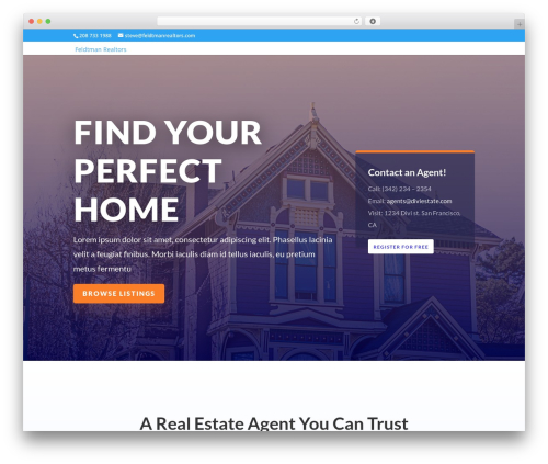 Divi premium WordPress theme - feldtmanrealtors.com