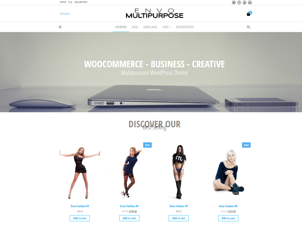 Envo Multipurpose best WooCommerce theme