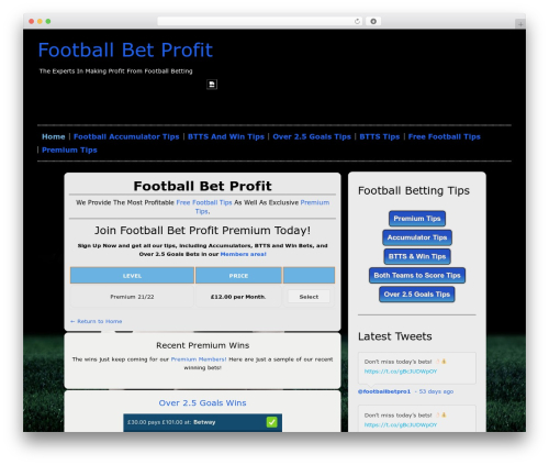 Hannari theme WordPress - footballbetprofit.com