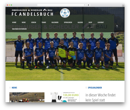 Real Soccer WordPress page template - fcandelsbuch.at