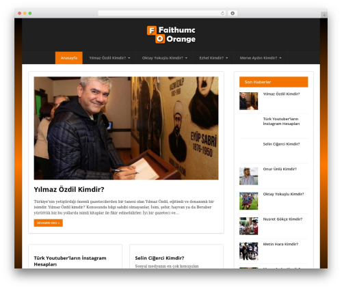 Status WordPress template - faithumc-orange.org