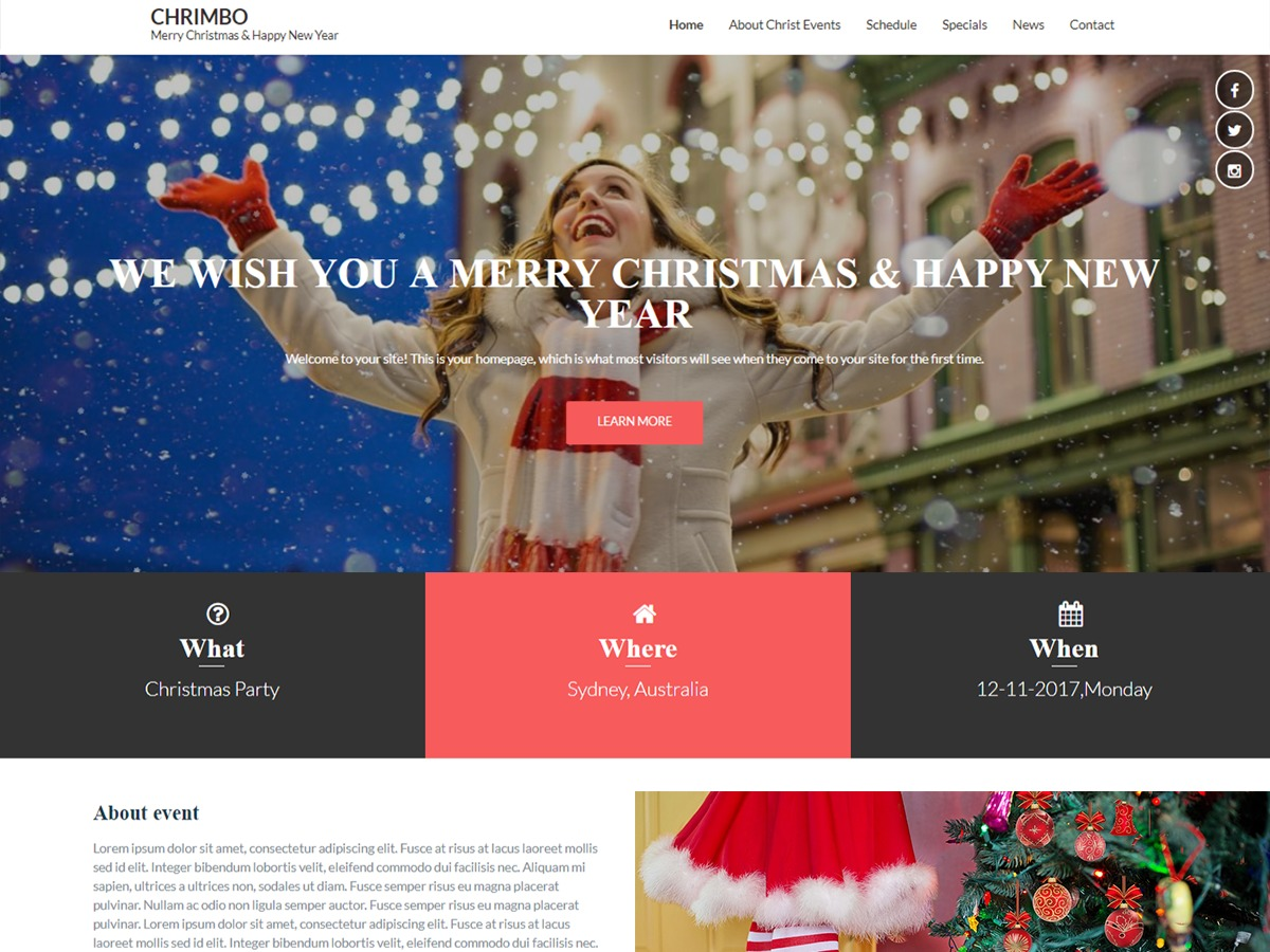 WordPress theme Chrimbo pro