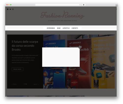 WordPress website template Hawthorn - fashionrunning.it