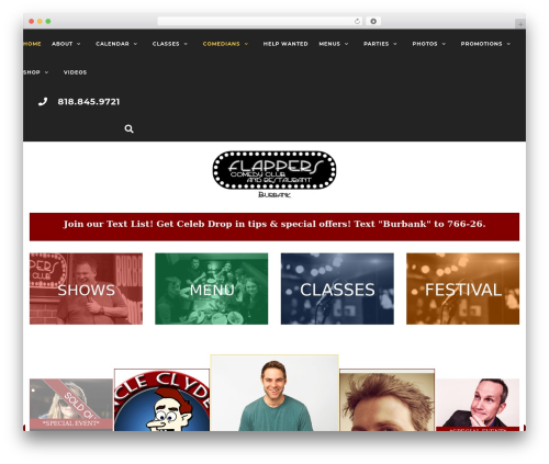 Activello WordPress website template - flapperscomedy.com