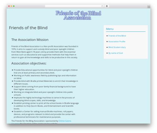 BlueGray free WordPress theme - fblind.org