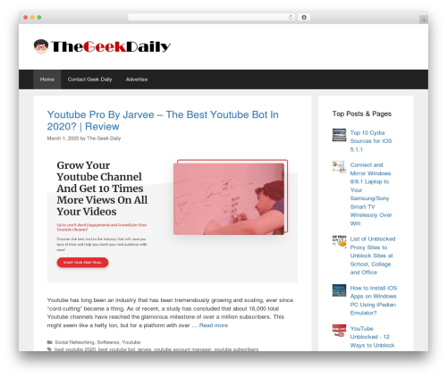 GeneratePress WordPress theme - thegeekdaily.com