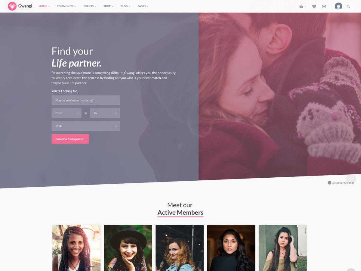 Gwangi WordPress ecommerce template