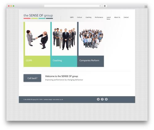 Class WordPress page template - thesenseofgroup.com