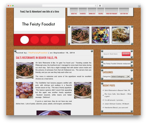 DISCUSSION WordPress theme - thefeistyfoodist.com
