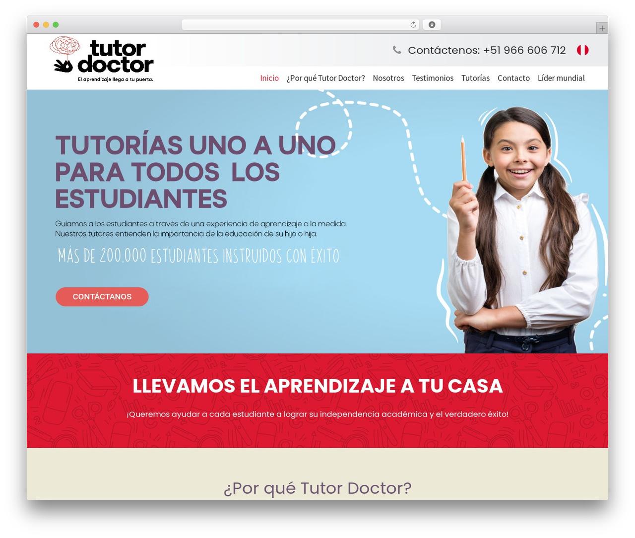 Impreza WordPress theme - tutordoctor.pe