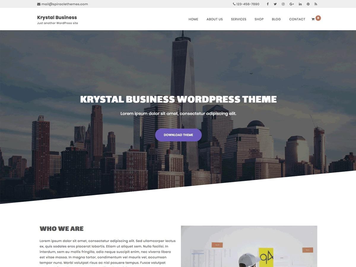 Krystal Business medical WordPress theme