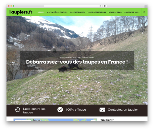 Movedo WordPress theme - taupiers.fr
